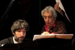 Teresa Procaccini con il pianista Matteo Castagnoli