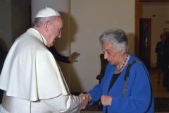 Teresa Procaccini con Papa Francesco