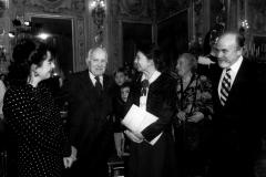 Teresa Procaccini con il Presidente Scalfaro